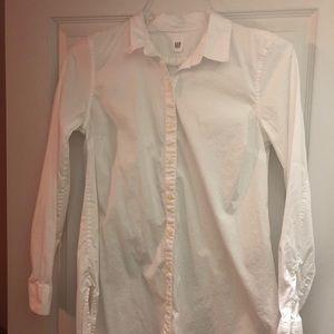 Gap maternity white button up tunic XS